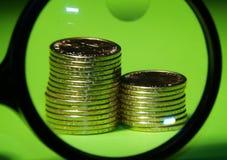 Die nagelneuen Dollarmünzen Lizenzfreies Stockbild