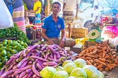 Die Nahrungsmittel an Fose-Markt Lizenzfreie Stockbilder