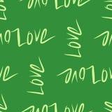 Die nahtlose abstrakte gezeichnete Begriffshand lieben für Valentinstag, Feiern oder Jahrestag stock abbildung