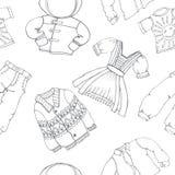 Die nahtlose Kleidung kann von den Designern benutzt werden Stockfoto