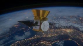 Die NASA-TESS - Durchfahren des Exoplanet-Übersichts-Satelliten stock footage
