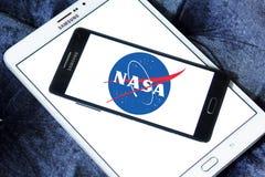 Die NASA-Weltraumagenturlogo Stockfotos