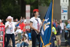 Die nationale Memorial Day -Parade lizenzfreie stockbilder