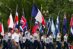 Die nationale Memorial Day -Parade stockfoto