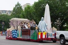 Die nationale Memorial Day -Parade stockbilder