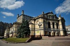 Die nationale Oper von Ukraine, Kiew Lizenzfreies Stockfoto