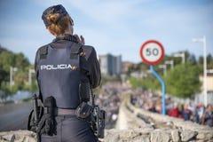 Die nationale Polizei passt die Pilgerfahrt auf stockfotos
