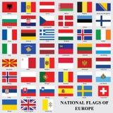 Die Nationsflaggen von Europa Stockfoto