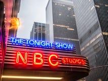 Die NBC-Studios lizenzfreie stockfotos