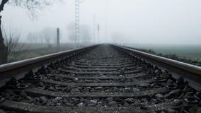 Die nebelige Eisenbahn Stockfoto