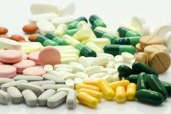 Die Neigung zur Medizin Stockbild