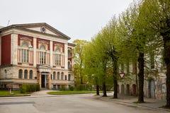 Die Neo-Renaissance-Universität von Liepaja Lizenzfreie Stockfotos