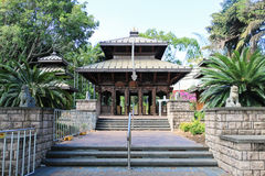 Die Nepal-Friedenspagode in Südufer Parklands, Brisbane, Austra stockbilder