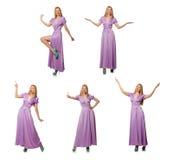 Die nette Kleidung der Frau in Mode - zusammengesetztes Bild Lizenzfreies Stockfoto