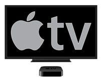 Der neue Apple Fernsehapparat Stockbild