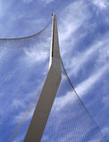 Die neue Brücke in Jerusalem Stockbild