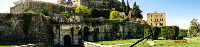 Die neue Festung und der Jachthafen auf der griechischen Insel von Korfu Stockbild