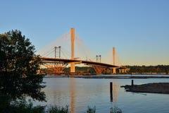 Die neue Hafen-Mann-Brücke Stockbild