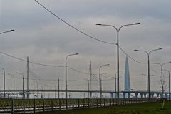 """Die neue Landstraße ist das westliche hohe †""""Geschwindigkeit Durchmesser lizenzfreie stockbilder"""