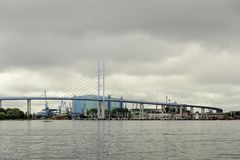 Die neue Ruegendamm-Brücke Stockfoto