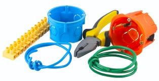 Die neuen Elektrikerwerkzeuge Lizenzfreies Stockfoto