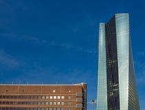 Die neuen Europäische Zentralbank-Hauptsitze, Frankfurt, lizenzfreie stockbilder
