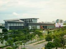 Die neuen Hauptsitze der Aktiengesellschaft CAT-Telekommunikation begrenzt in Thailand lizenzfreie stockfotos
