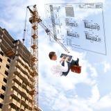 Die neuesten Bautechnologien stockbild