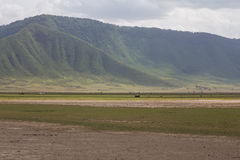 Die Ngorongoro-Kraterwand Stockbild