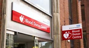 Die NHS-Blutspendmitte Stockfotografie