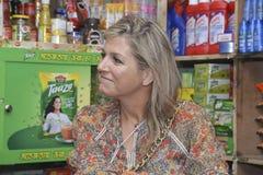 Die niederländischen Königin-Maxima: besuchtes ipay com BD-Speicher in Dhaka stockfoto