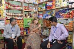 Die niederländischen Königin-Maxima: besuchtes ipay com BD-Speicher in Dhaka lizenzfreies stockbild