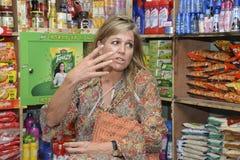 Die niederländischen Königin-Maxima: besuchtes ipay com BD-Speicher in Dhaka lizenzfreie stockbilder