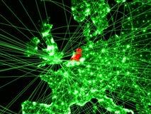 Die Niederlande auf grüner Karte lizenzfreie abbildung