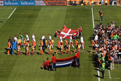 Die Niederlande gegen Dänemark - FIFA-WC 2010 Lizenzfreies Stockfoto