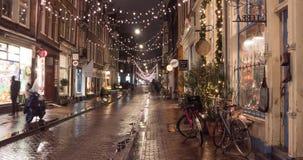 Weihnachten In Amsterdam, Holland Stock Video - Video von hinter ...