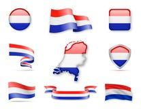 Die Niederlande kennzeichnen Sammlung Lizenzfreie Abbildung