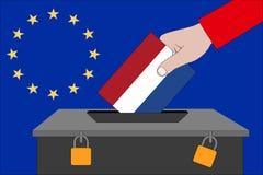 Die Niederlande-Wahlurne für die Europawahlen stockbild