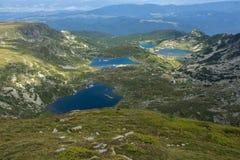 Die Niere, der Zwilling, der Klee und die Fish Seen, Rila-Berg Stockfoto