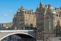 Die Nordbrücke in Edinburgh Lizenzfreies Stockfoto
