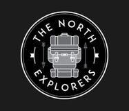 Die Nordforscher weiß auf Schwarzem lizenzfreie abbildung