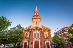 Die Nordkirche von Portsmouth, in Portsmouth, New Hampshire Lizenzfreie Stockbilder