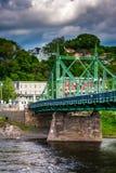 Die Northampton-Straßen-Brücke über dem Delaware River in Easton, Stockbilder