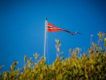 Die norwegische Flagge Lizenzfreie Stockfotos