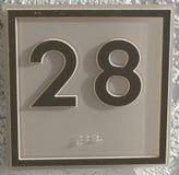 Die Nr. 28 lizenzfreies stockfoto