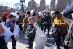 Die 2014 NYC-Kissenschlacht 24 Lizenzfreies Stockfoto