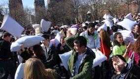 Die 2014 NYC-Kissenschlacht 23 Lizenzfreies Stockbild