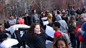 Die 2014 NYC-Kissenschlacht 15 Lizenzfreie Stockfotografie