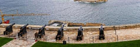 Die oberen Barrakka-Gärten in Valletta Malta Lizenzfreie Stockfotografie