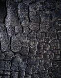 Die Oberfläche der Kohle stockbild